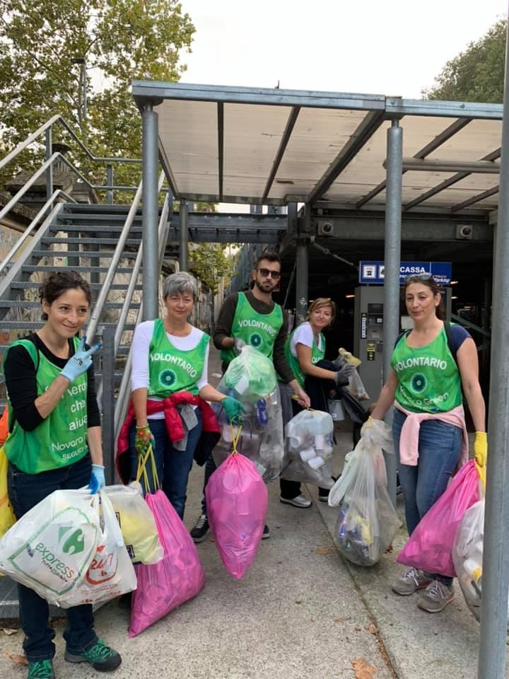 I rifiuti della movida raccolti da Novara Green
